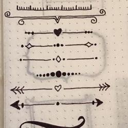 Divisórias estilosas entre os assuntos do seu diário ;-)