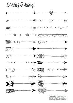 Divisórias e flechas fáceis de fazer