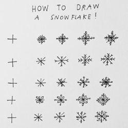Que tal aprender a desenhar flocos de neve?